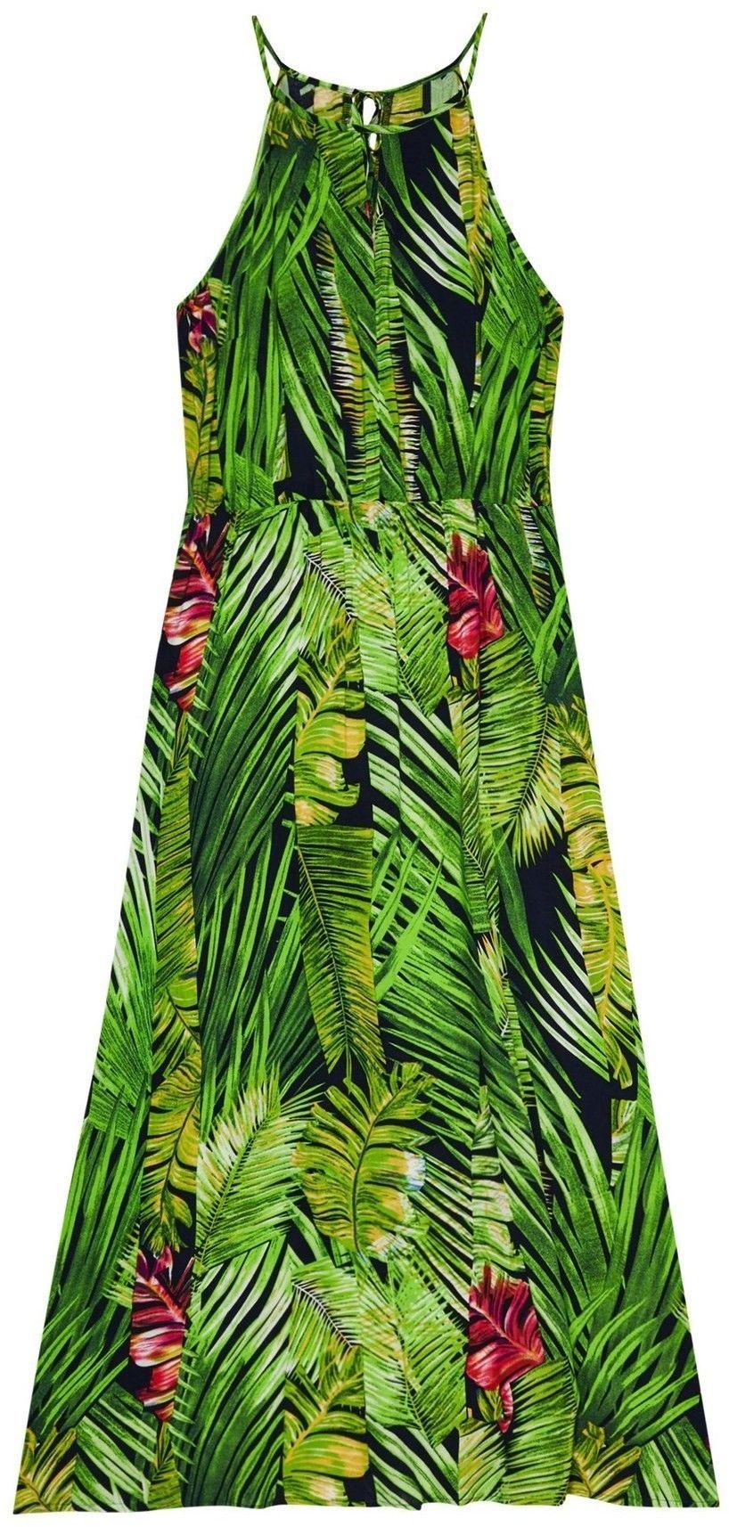 Sukienka z motywem roślinnym