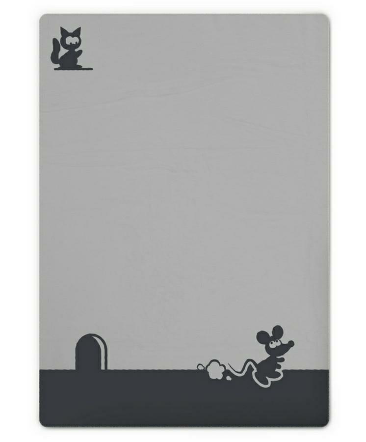 Kocyk dziecięcy 75x100 Miky myszka szary grafitowy M-44 bawełniany niemowlęcy