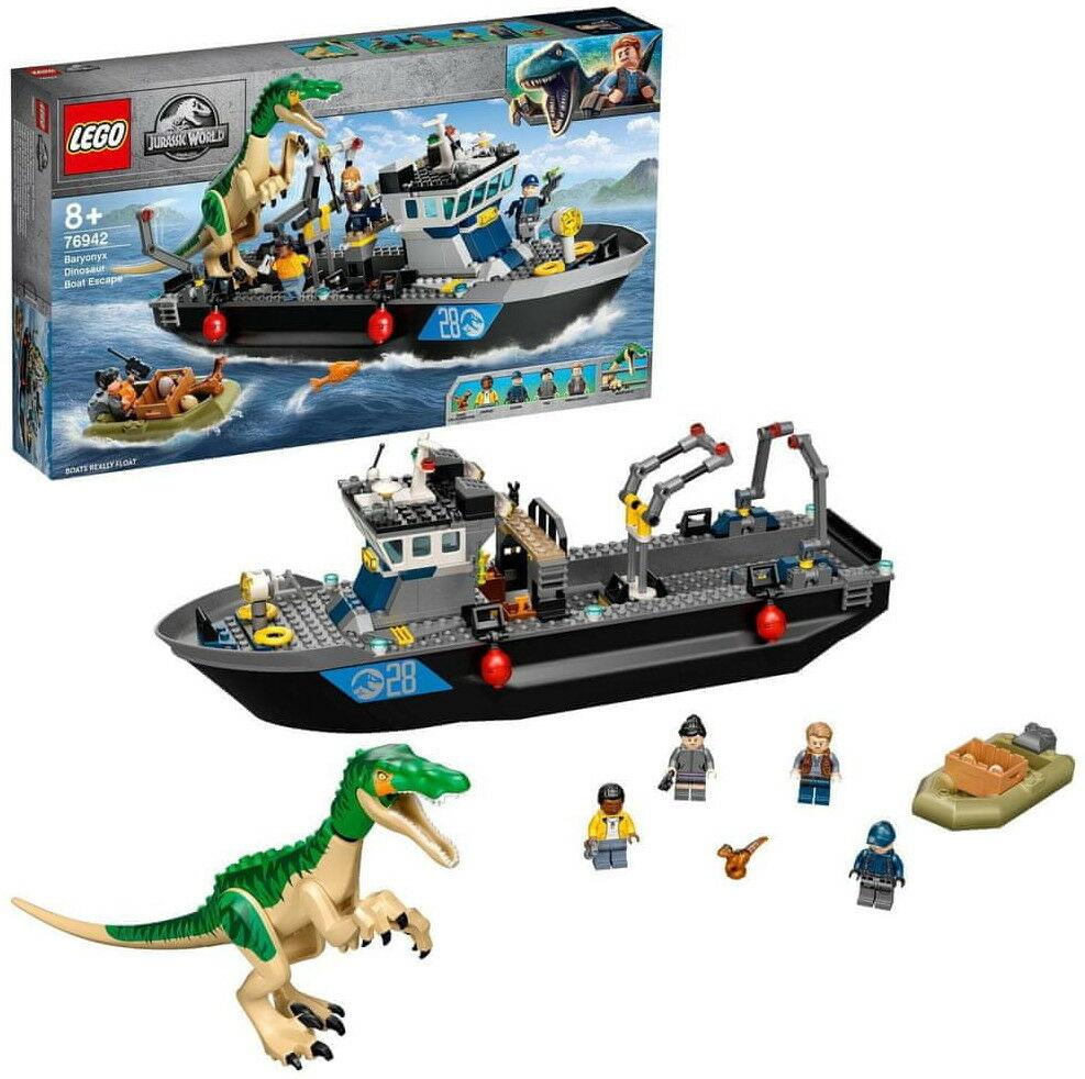 LEGO - JURASSIC WORLD - BARIONYKS I UCIECZKA ŁODZIĄ - 76942