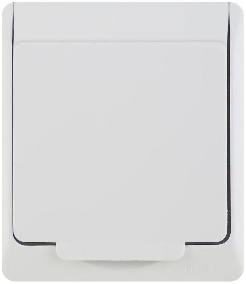 Gniazdo pojedyncze IP44 HERMES Biały ELEKTRO-PLAST