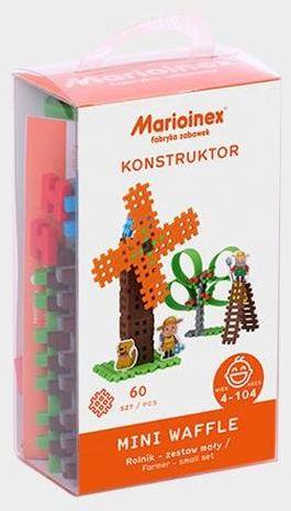 Klocki Mini Waffle Rolnik Mały blister - Marioinex