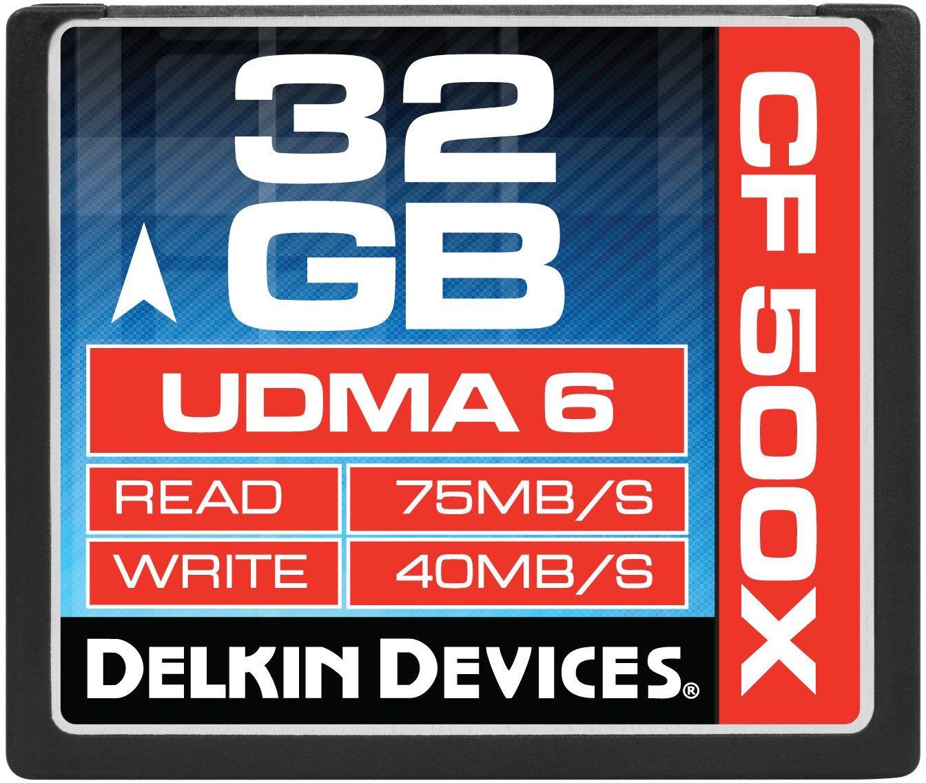 Delkin Karta pamięci Compact Flash (32 GB; 500 x)