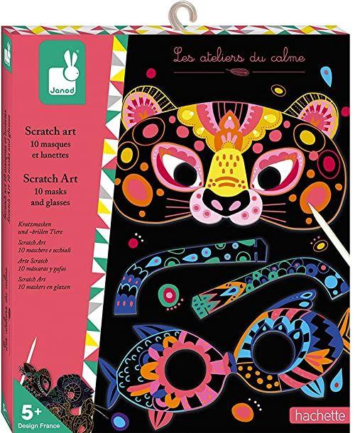Janod Wydrapywanka dla zwierząt - Les Ateliers du Calme kreatywny zestaw dla dzieci motoryki precyzyjnej i kreatywności Ab 5 lat, J07966
