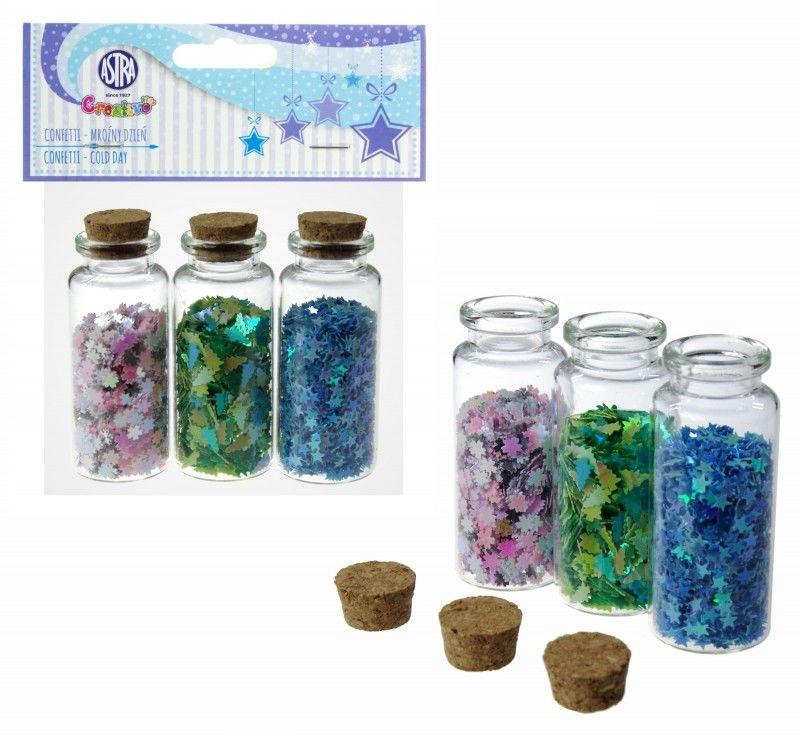 Confetti 3x10g buteleczki szklane Mroźny Dzień Astra 552 6104-CONFETTI-ASTRA