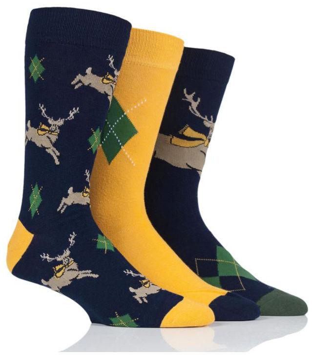 Męskie kolorowe skarpety Wild Feet - JELEŃ - 3 pary !!!