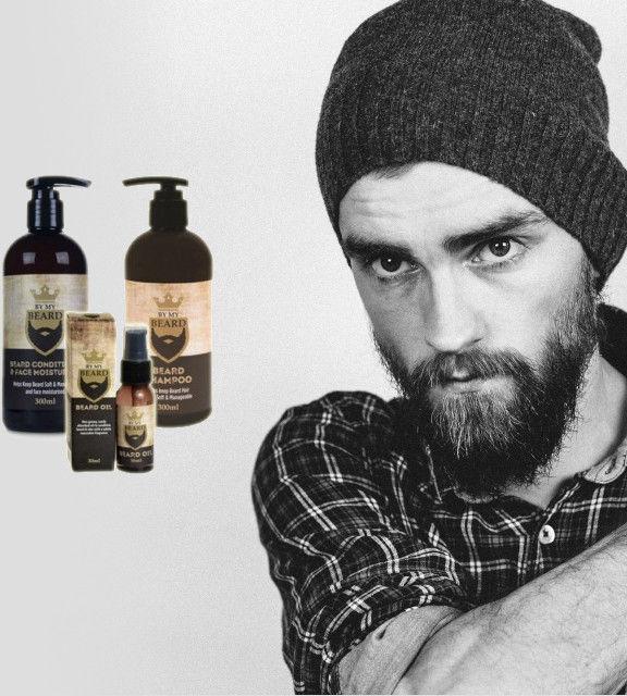 By My Beard Zestaw Szampon 300ml + Odżywka 300ml + Olejek 30 ml Do Pielęgnacji Brody i Wąsów