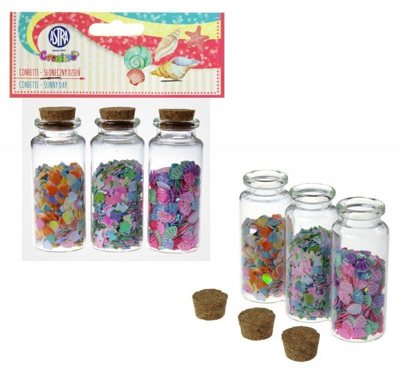 Confetti 3x10g buteleczki szklane Słoneczny Dzień Astra 545 6105-CONFETTI-ASTRA