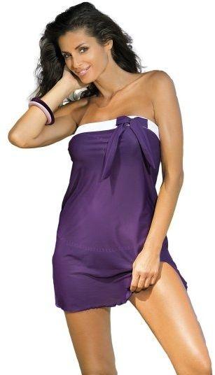 Tunika plażowa marko mia susperia m-241 ciemny fiolet (308)