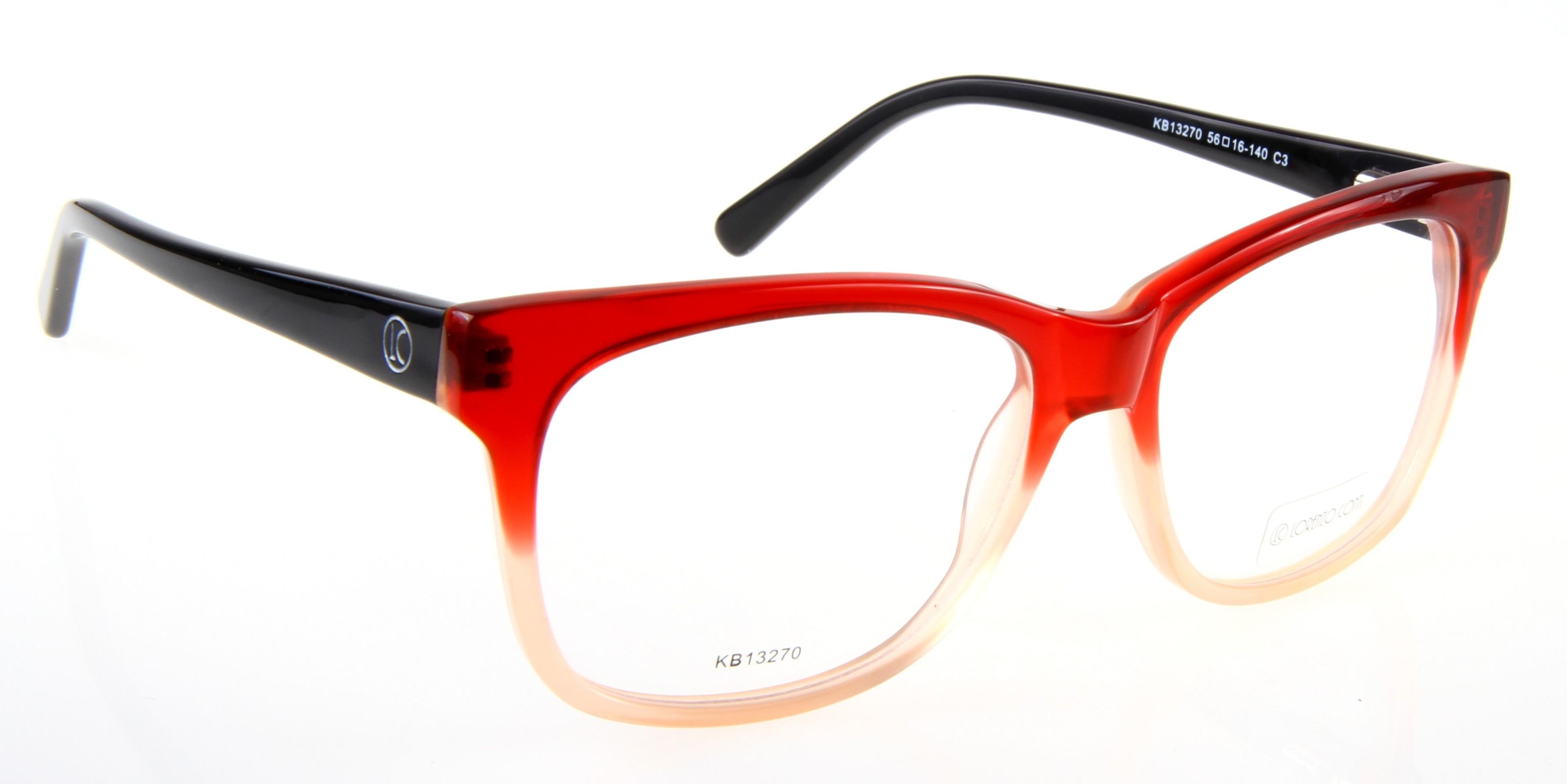 Oprawki okularowe Lorenzo KB13270 c3 czerwona
