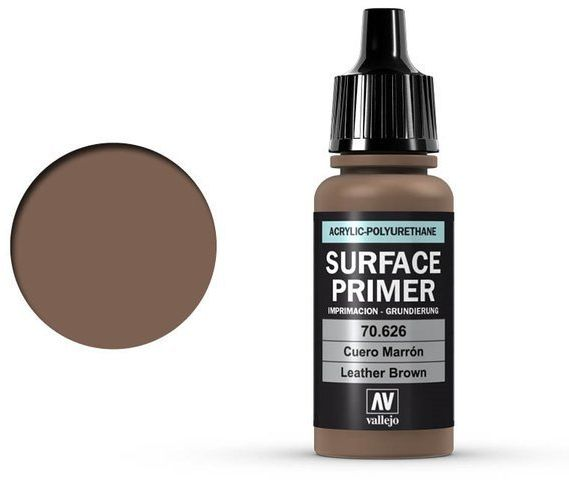 Vallejo Surface Primer / Podkład Akrylowy Leather Brown 17 ml.