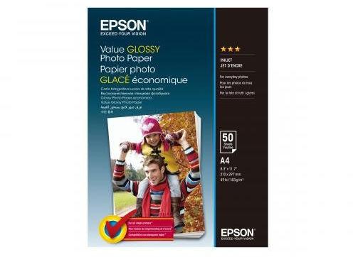 Epson S400036 Value Glossy Photo Paper, błyszczący, biały, papier fotograficzny, A4, 200 g/m2, 50 szt.