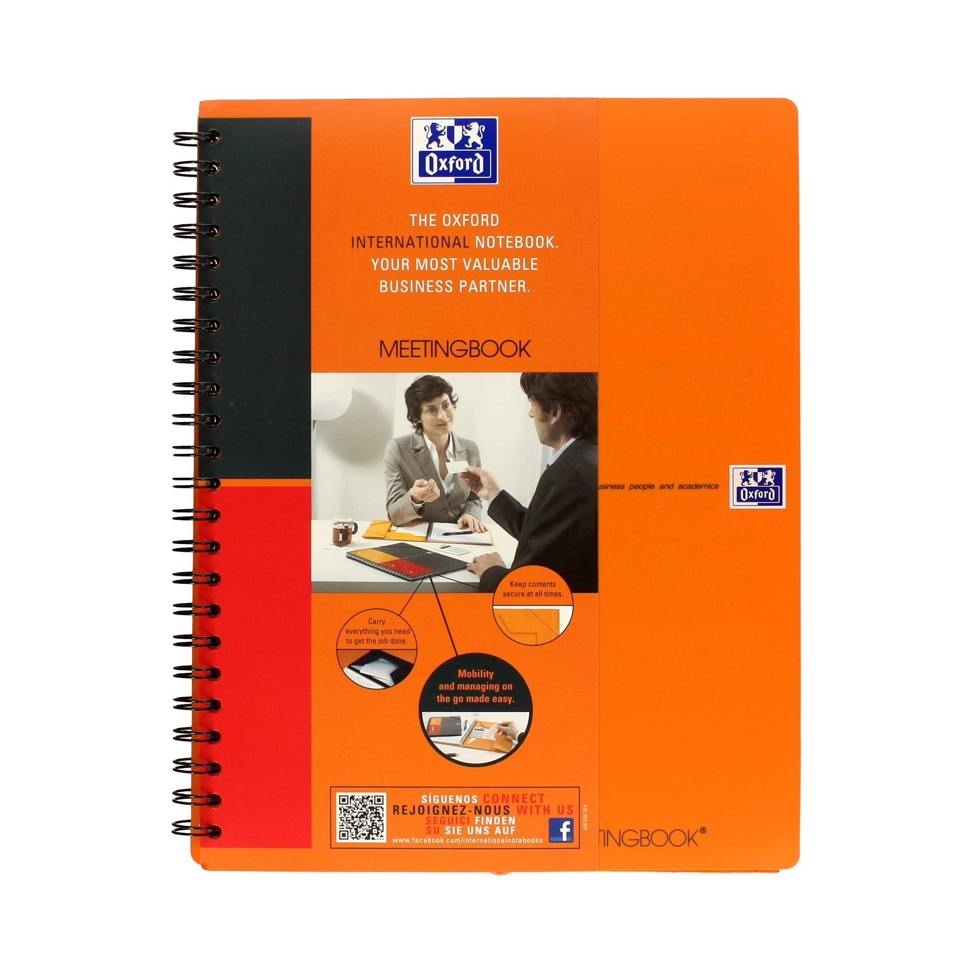 Kołonotatnik A4+/80 linia teczka Oxford MeetingBook
