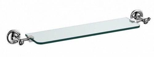 ASTOR półka szklana 652 mm RETRO chrom