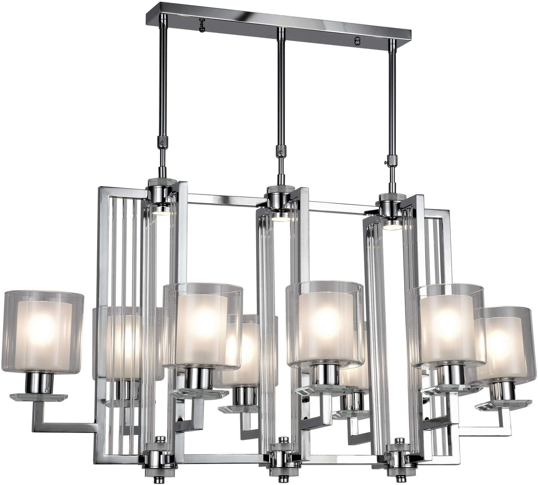 NOWOCZESNA LAMPA WISZĄCA CHROMOWANA MANHATTAN PRO LUMINA DECO - zyskaj 5% RABATU z kodem DAMI5!
