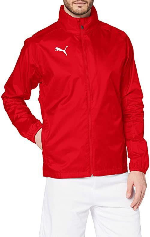 PUMA męska kurtka treningowa LIGA Rain Core, czerwona biel, mała Puma Red/Puma White L