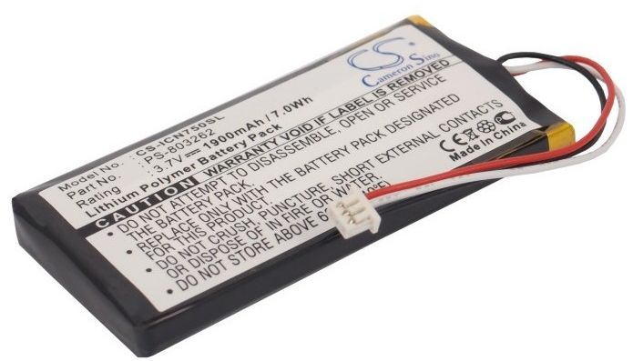 Navman iCN720 / PS-803262 1900mAh 7.03Wh Li-Polymer 3.7V (Cameron Sino)