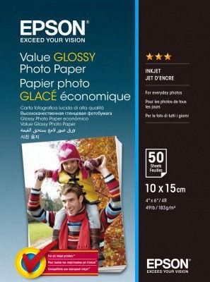 Epson S400038 Value Glossy Photo Paper, biały, błyszczący, papier fotograficzny, 10x15cm, 183 g/m2, 50 szt.