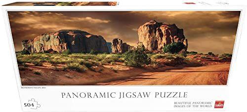 Goliath - puzzle dla całej rodziny panorama puzzle Val der Monumente - Arizona (71412012)
