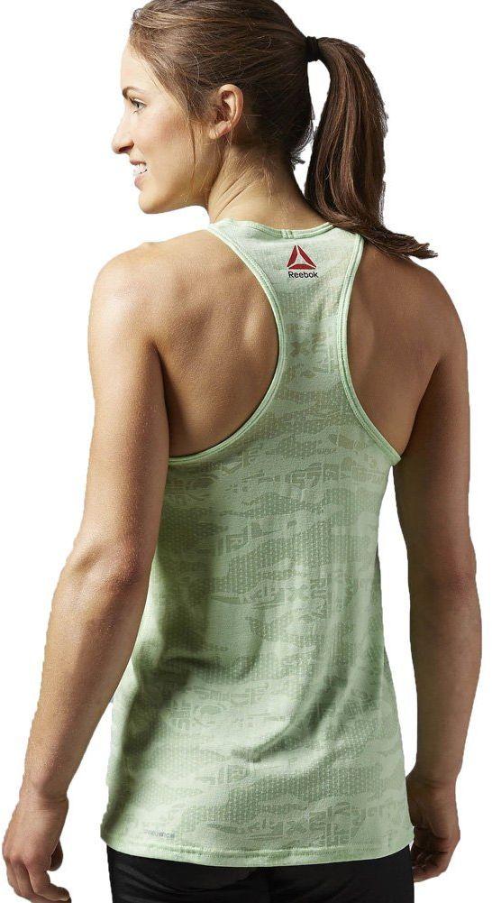 Reebok damska koszulka bez rękawów ONE Series Burnout Tank, Seafoam Green, S