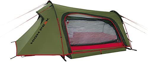 High Peak Unisex Sparrow Namiot Kempingowy, Zielony/Czerwony, L