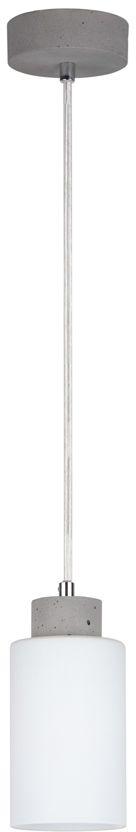 Spot Light 9160136 Karla lampa wisząca beton szary klosz szkło transparentny biały mat 1xE27 60W 10cm