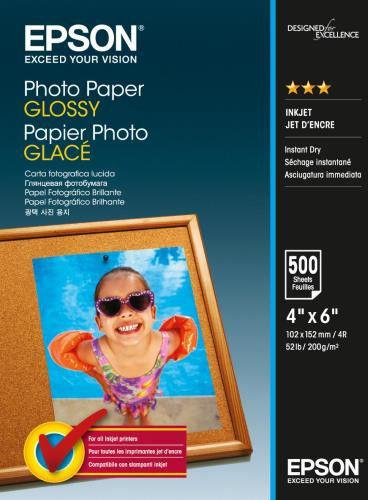 Epson S042549 Photo Paper biały błyszczący papier fotograficzny 10x15cm 200 g/m2 500 szt.
