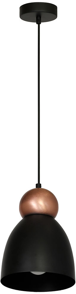 Milagro TAURUS BLACK MLP3774 lampa wisząca metalowa czarno-złota kula zamontowana nad kloszem 1xE27 18cm