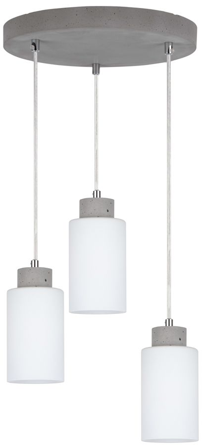 Spot Light 9160336R Karla lampa wisząca nowoczesna beton szary transparentny klosze szklane biały mat 3xE27 60W 32cm
