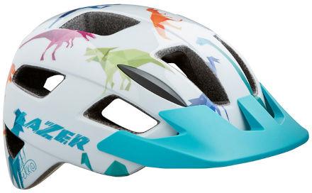 LAZER kask rowerowy dziecięcy/juniorski LIL GEKKO CE-CPSC White Dino BLC2207888209 Rozmiar: 46-50,BLC2207888209