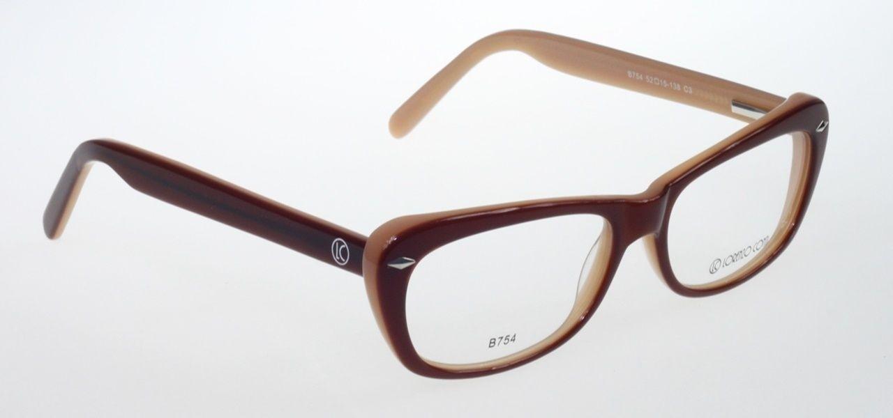 Oprawki okularowe Lorenzo B754 C3 brązowo-brzoskwiniowe