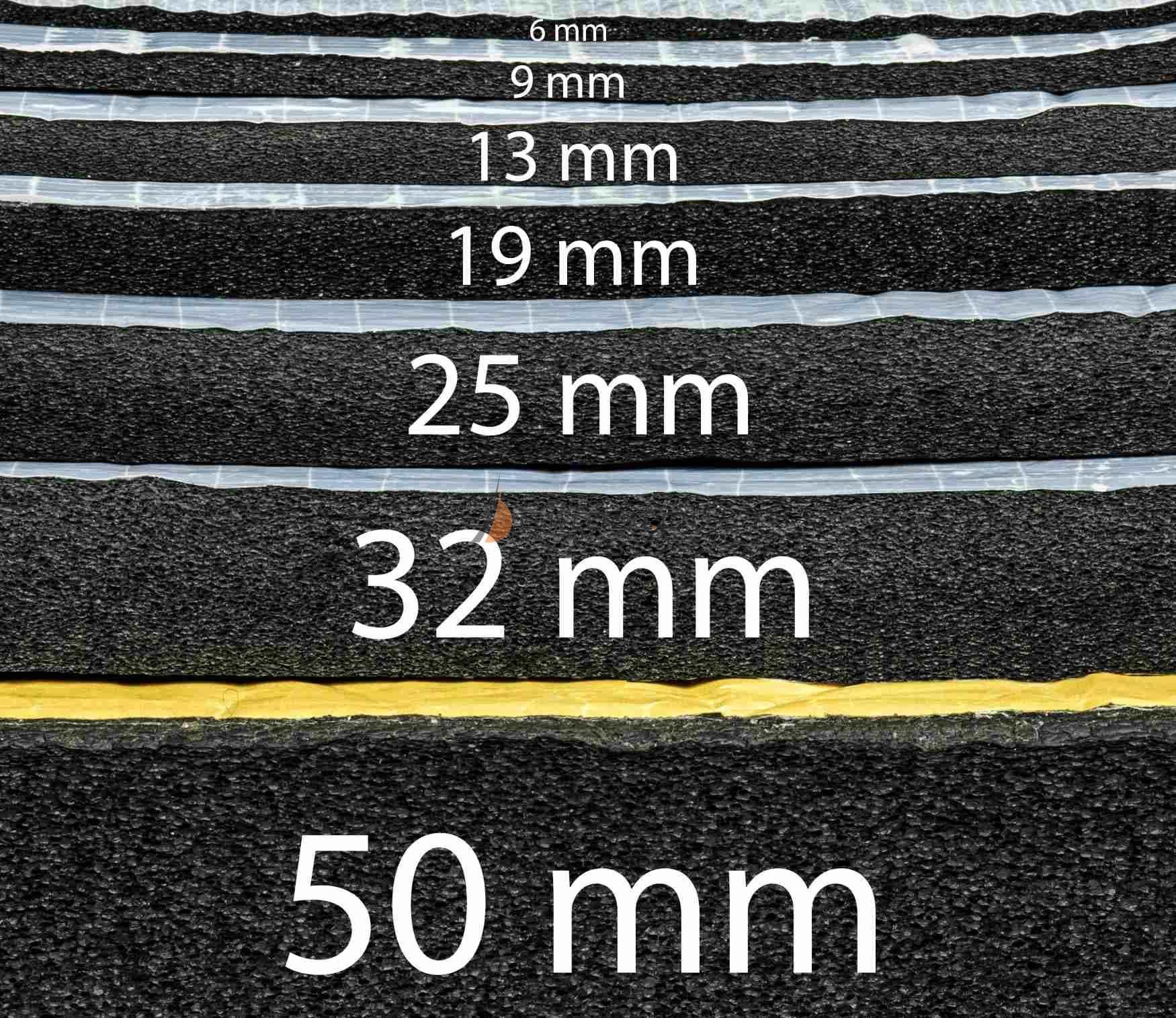 Pianka K wygłuszająca gumowa samoprzylepna - różne grubości 100x100cm z rolki na m2