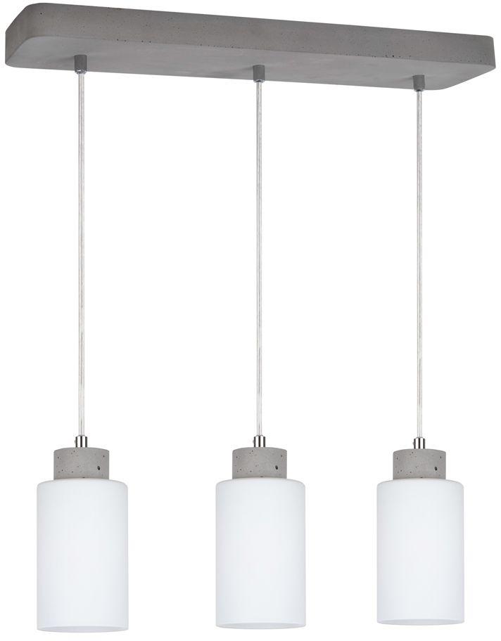 Spot Light 9160336 Karla lampa wisząca beton szary transparentny klosz szkło biały mat 3xE27 60W 55cm
