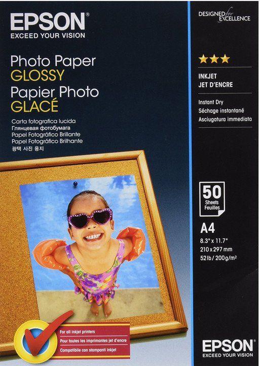 Epson S042539 Photo paper, papier fotograficzny, błyszczący, biały, A4, 200 g/m2, 50 szt., S042539, drukowanie atramentowe