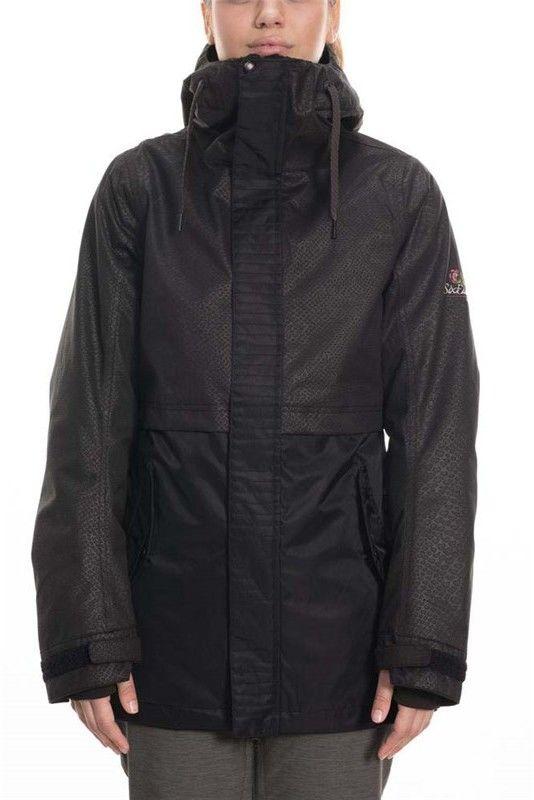 kurtka 686 - Jett Insulated Jacket Black Suede (BLK)