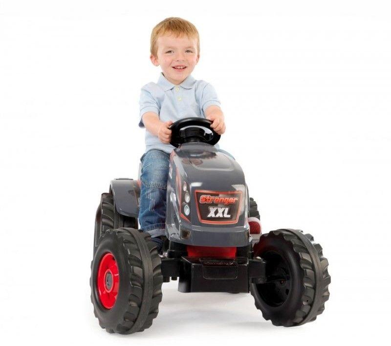 Traktor na Pedały Ogromny XXL Stronger z Przyczepą Smoby