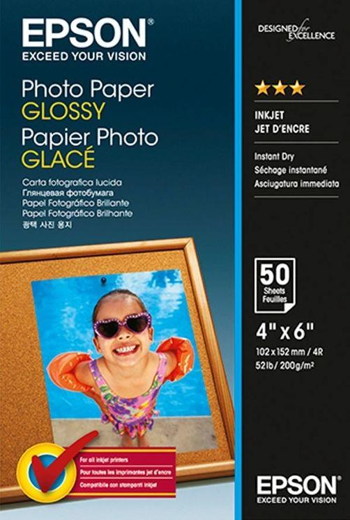 Epson S042547 Premium Glossy Photo Paper, papier fotograficzny, błyszczący, biały, 10x15cm, 200 g/m2, 50 szt.