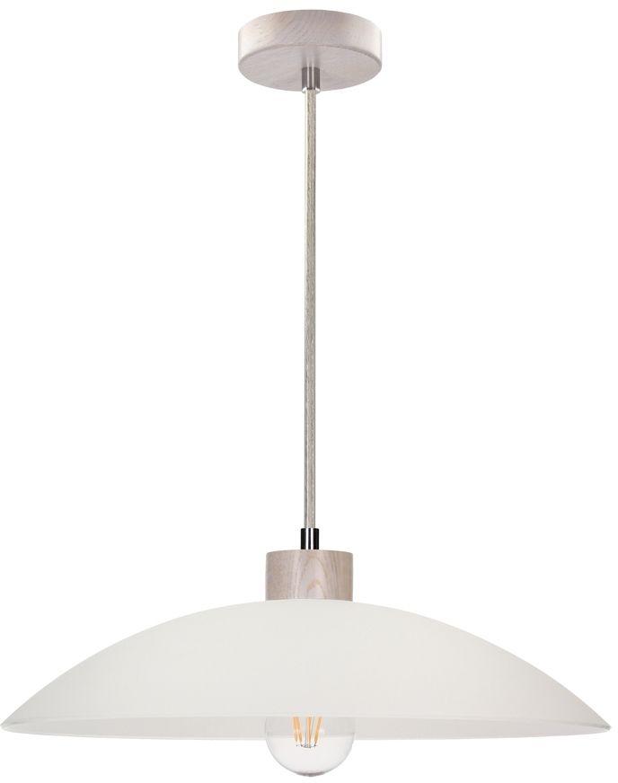 Spot Light 1408032 Jona lampa wisząca drewno dąb olejowany/transparentny klosz szkło biały 1xE27 60W 40cm