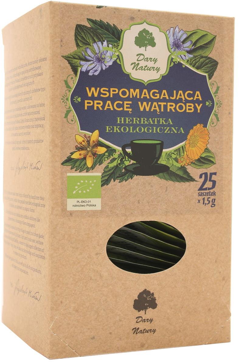 Herbatka wspomagająca pracę wątroby BIO - Dary Natury - 25 sasz