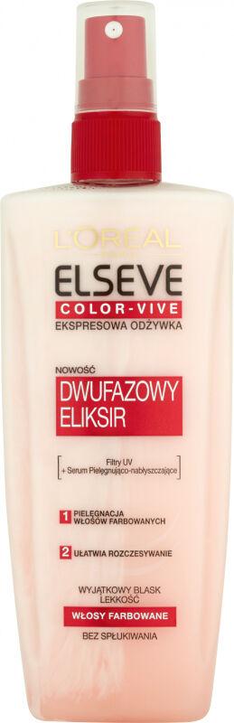 L''Oreal - ELSEVE COLOR-VIVE - Ekspresowa odżywka do włosów farbowanych - 200 ml - BEZ SPŁUKIWANIA