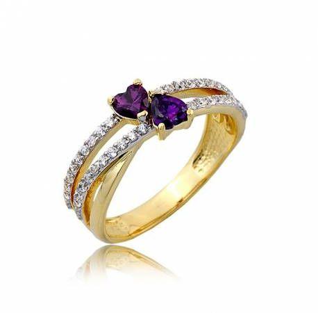 Dziewczęcy złoty pierścionek P1771