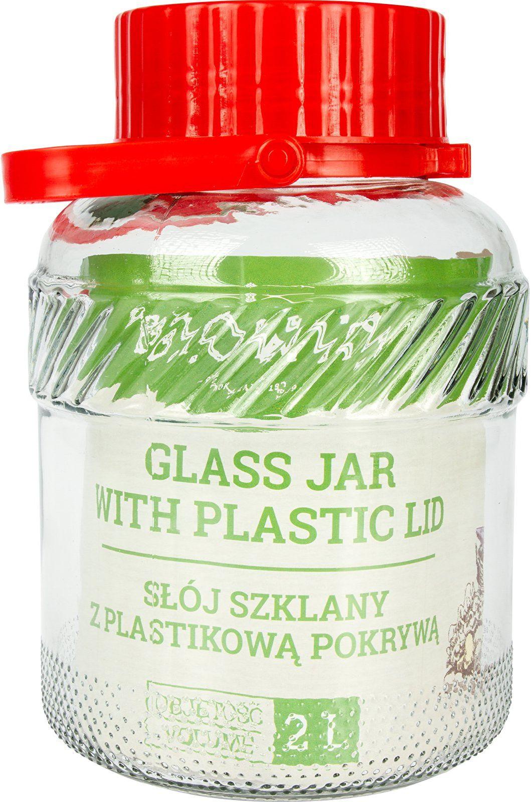 Słoik 2 L z plastikową pokrywą