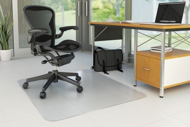 Mata pod krzesło prostokątna na twarde podłogi 914 x 1220 mm - X07342
