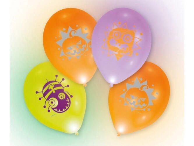 Balony lateksowe świecące LED - 25 cm - 4 szt.