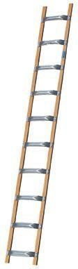 Drabina dachowa aluminiowo-drewniana 8 szczebli