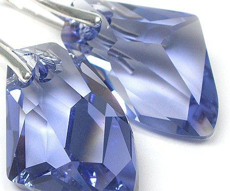duże kolczyki Kryształy kolory srebro