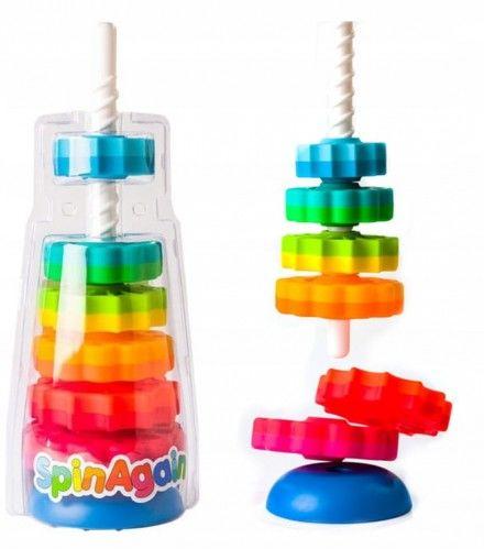 Zakręcona wieża piramida Spin Again Fat Brain Toys