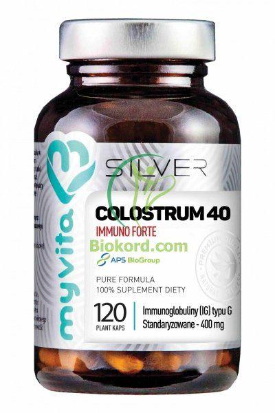Colostrum IMMUNO FORTE, SILVER PURE 100%, Myvita