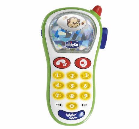 Chicco Telefon z Aparatem Foto 6-36m Chicco Zabawkowy Telefon z Dzwonkami 6m+