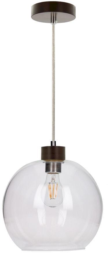 Spot Light 13560176 Svea lampa wisząca drewno orzech klosz szkło transparentny 1xE27 60W 24cm