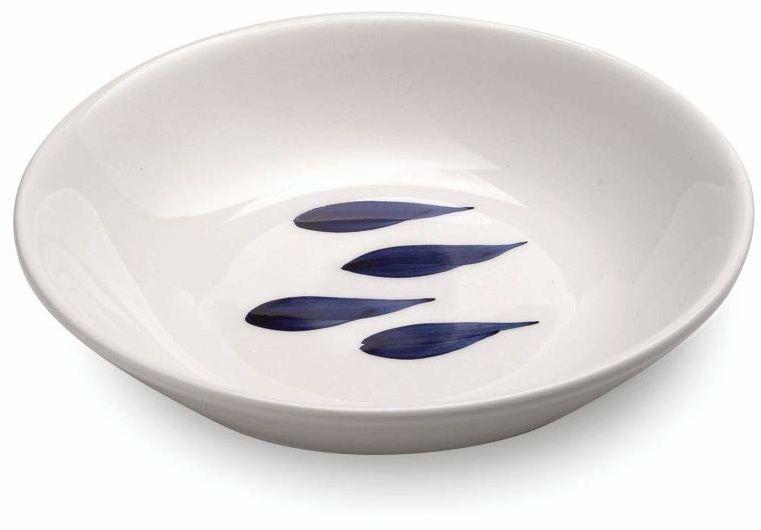 Zafferano Mannaggia Li Pescetti  porcelanowy środek do mycia naczyń, średnica 300 mm, kolor niebieski, wzór ryby, nadaje się do mycia w zmywarce  zestaw 2 sztuk